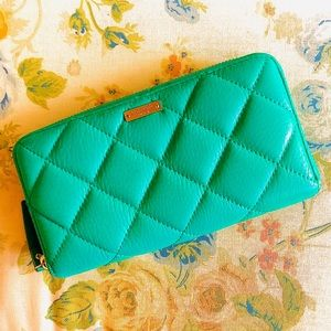 Kate Spade Sea Green Quilted Wallet